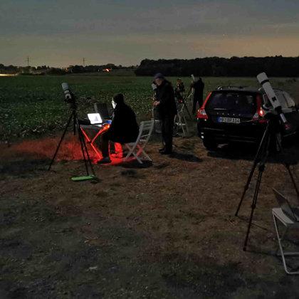 Gemeinsame Beobachtung der Streifende Sternbedeckung am 20.09.19 in PB